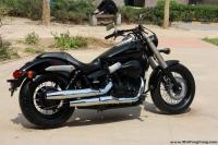 2011款本田沙都750 黑色巡航摩托车