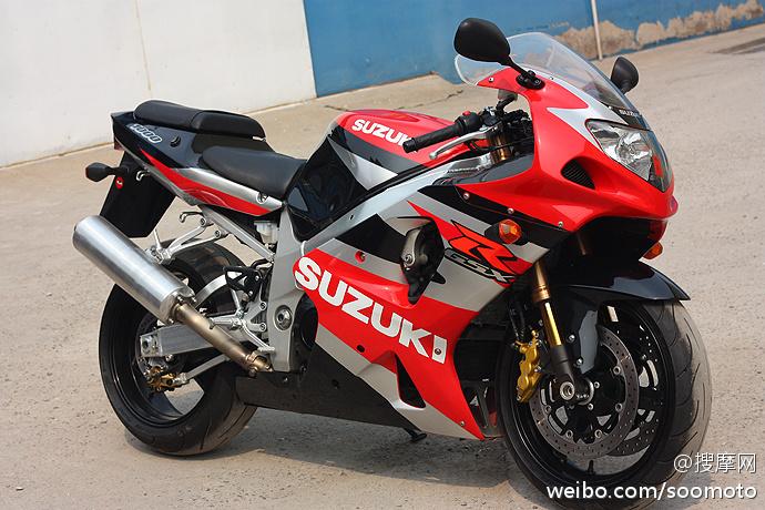 2002款 铃木 GSX-R1000 红白色 K2 原板原漆罩光油 极品成色 三万多元 GSX-R1000图片 2