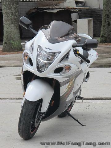 2008款铃木隼GSX1300R ,改装碳纤维吉村排气 白色喷漆 6000多公里 成色新 Hayabusa图片 3