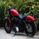 2012款哈雷戴维森 XL-883N 哈雷硬汉摩托车 红色邮箱,黑色座椅1